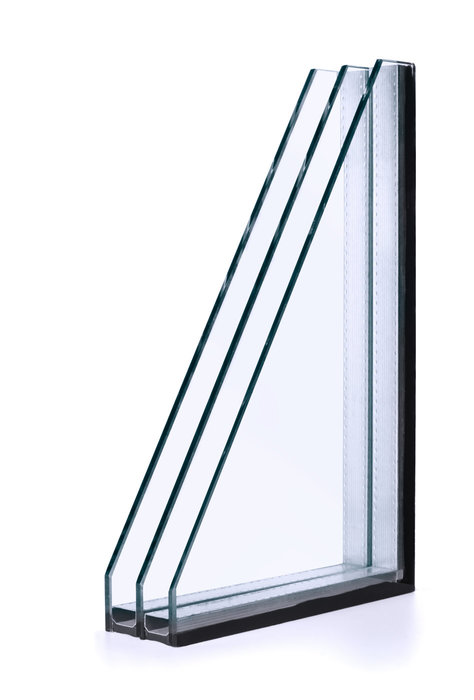 Insulated glass consists of two or more plies of glass separated by an aluminum or other types of spacer and is filled with air or in some cases noble gases like argon to influence the element's Ug value.